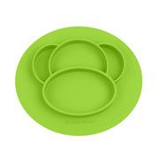 云儿宝贝 YEBB455171 BELOVED硅胶餐盘 小猴款 绿色