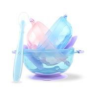 云儿宝贝 YEBB459 BELOVED多彩吸盘碗+勺 吸盘碗+勺