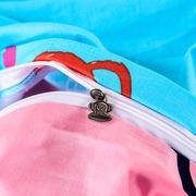 大嘴猴 PF0498TJ 儿童40S全棉三件套涂鸦王国  天蓝色  被套: 150*200cm床单: 160*230cm枕套: 48*74cm