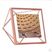 Umbra  加拿大设计师款PRISMA立体菱形相框 8X10 cm 玫瑰金