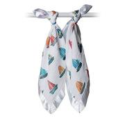 lulujo 新生兒muslin棉絲質透氣口水巾嬰兒洗臉巾手帕 40*40 彩色