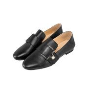 A.jatus  羊皮珍珠扣舒软踩脚女单鞋 38 黑色