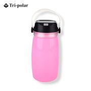 三极 TP2219 户外多功能太阳能充电漂流瓶水杯野营帐篷灯  粉色