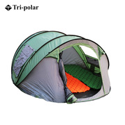 三极 TP2639 免搭建便携沙滩露营野餐4-5人自动帐篷 260*220*110 军绿色