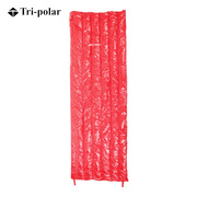 三极 TP2939 户外羽绒可拼接成人情侣露营便携保暖睡袋 70*190cm 红色