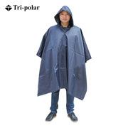 三极 TP1906 多功能成人户外加厚雨衣雨披大衣斗篷男 均码 藏蓝色
