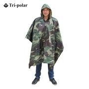 三极 TP1906 多功能成人户外加厚雨衣雨披大衣斗篷男 均码 大花迷彩