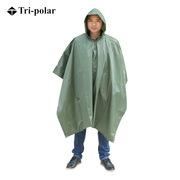 三极 TP1906 多功能成人户外加厚雨衣雨披大衣斗篷男 均码 军绿色