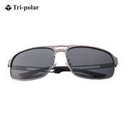 三极 TP2352 时尚眼镜太阳镜男士驾驶钓鱼偏光镜    枪框灰片