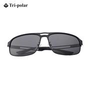三极 TP2352 时尚眼镜太阳镜男士驾驶钓鱼偏光镜    黑框灰片