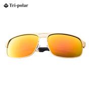 三极 TP2352 时尚眼镜太阳镜男士驾驶钓鱼偏光镜    金框黄膜反光