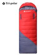 三极 TP2940 户外伸手羽绒成人室内午休冬季鸭绒睡袋  红色