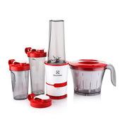 伊萊克斯 EGBR020 榨汁機 參數:200W 大隨行杯600mL小隨行杯400mL 白紅色