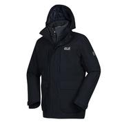 Jackwolfskin 5118291-6350 秋季新款户外防水透气三合一抓绒夹克冲锋衣 M 深灰色