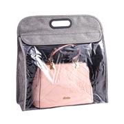 寶優妮 DQ9144-5 懸掛式家用包包收納袋 36cm×18cm×3cm 灰色 PE袋包裝 防潮防塵 方便取物 提手設計