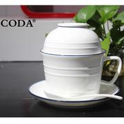 蔻达 D1092 小资白领套装(4头)  瓷白色 主产品*1 蔻达小资白领套装(4头)D1092餐具套装(4件套)203*132*160*148