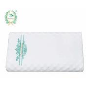 素万 SP1 天然乳胶枕成人高低按摩枕高版  白色