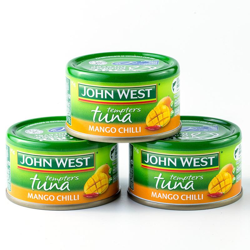 西部约翰  芒果辣味金枪鱼罐头 95g*10