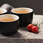 蔻达 D1089 雅趣茶具7件套 茶壶、密封罐、圆碗、花瓶、竹木托盘 黑色  蔻达雅趣茶具7件套D1089茶具7件套