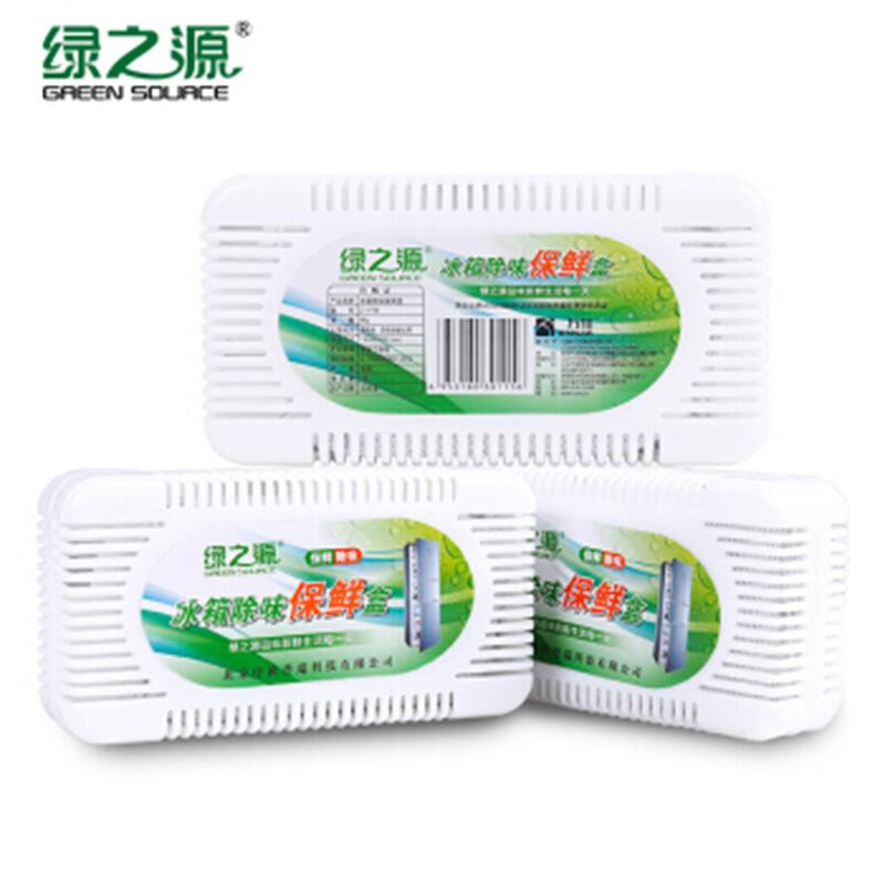 绿之源  3盒活性炭装冰箱除味剂 4件装