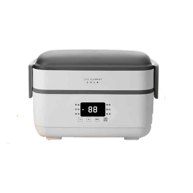 生活元素 F36 生活元素插电式电热饭盒 保温饭盒 双层不锈钢内胆 F36 1.5L 灰白色  按台销售